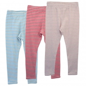 Stripy Leggings in Soft Organic Cotton Melange