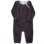 Beautiful Baggy Baby Suit in Melange-Dyed Velour
