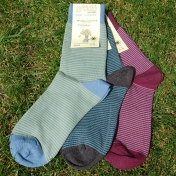 2-Pack Adult Stripy Socks in Organic Cotton
