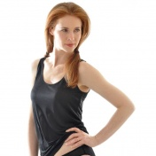 Women's Simple Vest in Pure Biodynamic Silk