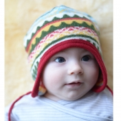 Alpine Knitted Baby Hat in Merino Wool
