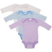Silk & Wool Blend Baby-body, Long-sleeved