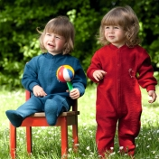 Babygrow / Pyjamas in Organic Merino Wool With Feet
