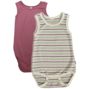 2-Pack Sleeveless Organic Cotton Baby Body