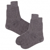 2-Pack Italian Wool/Organic Cotton Short Socks for Men and Women