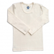 Long-Sleeved Children's Vest in Un-Dyed Organic Cotton