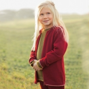 Children's Zip Cardigan in Organic Merino Wool