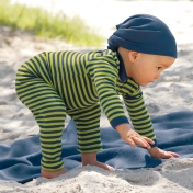 Stripy Leggings for Babies and Children in Wool/Silk