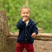 Organic Merino Wool & Silk Terry Baby Jacket