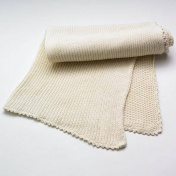 Hand-Knitted Fair-Trade Baby Blanket in Organic Cotton