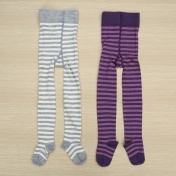 Stripy Machine Washable Wool Rich Tights