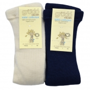 Ribbed Tights in Pure Organic Wool