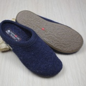 Haflinger Boiled Wool Clogs With Rubber Sole Adult