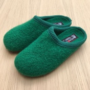 Haflinger Boiled Wool Clogs with Rubber Sole