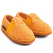 T-bar Slippers in Boiled Wool by Haflinger