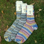 Beautiful Hand-Knitted Style Organic Wool Socks for Adults