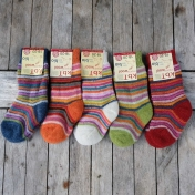 Children's Stripy Organic Wool Terry Socks