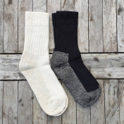 Adult's Socks In Cotton, Wool and Linen