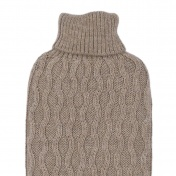 Eco Safe Hot Water Bottle with Hand-Knitted Baby Alpaca Cover