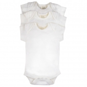 3-Pack Short Sleeve Baby-Body in Fairtrade Organic Cotton