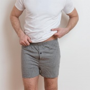 2-Pack Men's Single Jersey Boxer Shorts in Organic Cotton