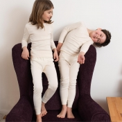 Two Piece Natural Organic Cotton Pyjamas for Children