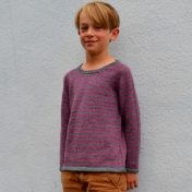 Hand-Knitted Alpaca Jumper for Children