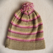 Hand-Knitted Alpaca Bobble Hat