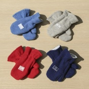 Mittens with Elasticated Cuffs in Organic Boiled Merino Wool