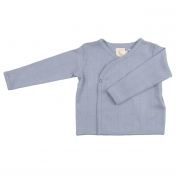 Pointelle Kimono Jacket in Organic Cotton