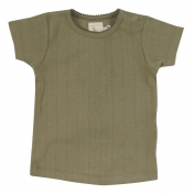 Short Sleeved Organic Cotton Pointelle Tee Shirt