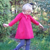 Red Cord Dress in Organic Cotton