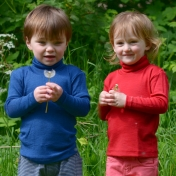 Children's Merino Wool and Silk Polo-neck Vest top