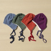 Knitted Wool Hat with Cotton Fleece Lining
