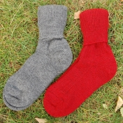 Roll-top Socks in Thick Organic Wool