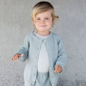 Soft Knitted Organic Cotton Baby Cardigan