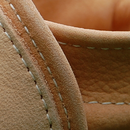 First Baby Shoes in Natural Undyed Leather