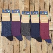 Adult's Organic Cotton Herringbone Socks
