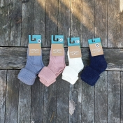 Wool, alpaca and cotton soft baby socks
