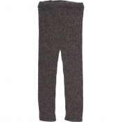 Hand-Knitted Ribbed Leggings in Baby Alpaca