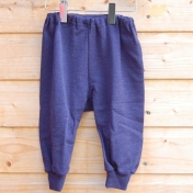 Merino Wool Baby Trousers in Navy Blue