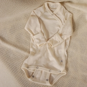 Wrap Baby Body in Silk and Wool with Fold-Over Scratch Mitts