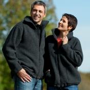 Wool Zip Fleece Jacket for Men and Women | Unisex Adult Wool Zip