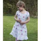 Seed Head Print Dress in Organic Cotton