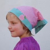 Pretty Gingham Headscarf in Organic Cotton (UV20)