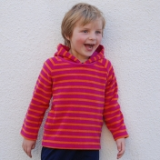 Stripy Terry Towelling Hoody in Organic Cotton