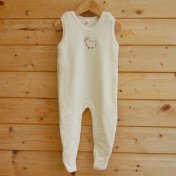 Baby Dungarees in Merino Wool (with feet)