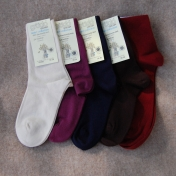 2-Pack Fine Organic Cotton Socks for Adults