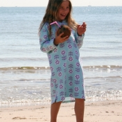 Hooded Beach Dress in Organic Cotton