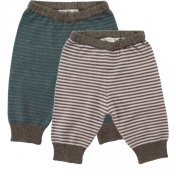 Stripy Merino Baby Trousers by Lille Barn
